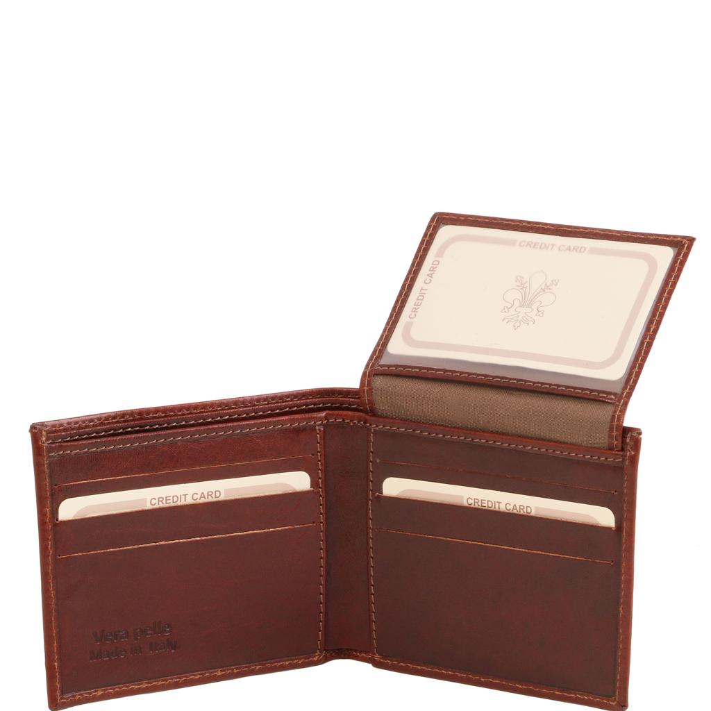 Tuscany Leather 3 Fold nahkalompakko ruskea
