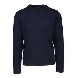 Malagrida neulepaita V-kaulus tummansininen 100% virgin wool