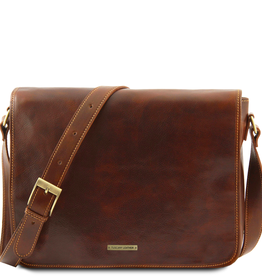 Tuscany Leather Messenger Double nahkalaukku