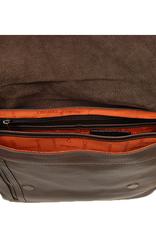 Chiarugi Classic City messenger laukku tummanruskea