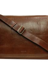 Chiarugi Globe Collection messenger laukku ruskea