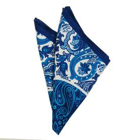 Bojua Luigi taskuliina sininen kuviollinen