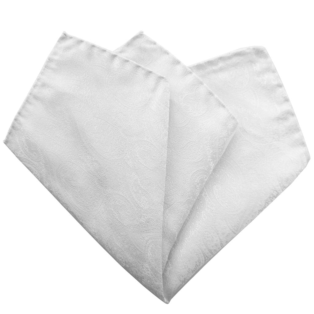 Brucle Romana kuvioitu luonnonvalkoinen taskuliina