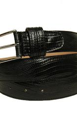 Bochicchio Cinture Lajatica musta nahkavyö