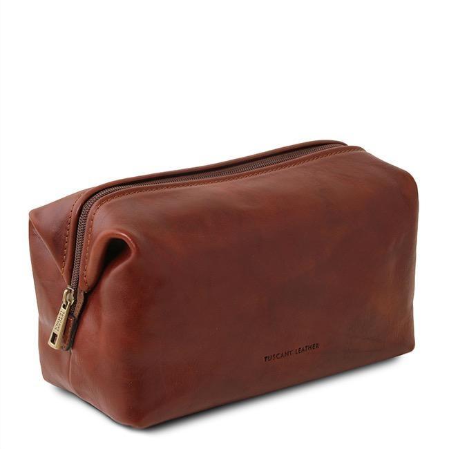 Ruskea nahkainen toilettilaukku⎪Tuscany Leather