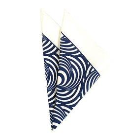 Valkoinen taskuliina sinisellä kuviolla⎪Lucera