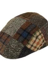 Ruskea flat cap patchwork⎪Bojua