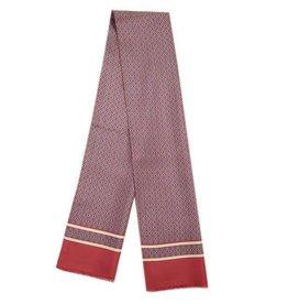 Punainen pitkä silkkihuivi villavuorilla⎪Bojua