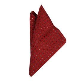 Tummanpunainen taskuliina pallokuviolla⎪Bojua