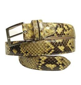 Keltainen python vyö⎪Bochicchio Cinture