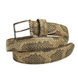 Vaaleanruskea python vyö⎪Bochicchio Cinture