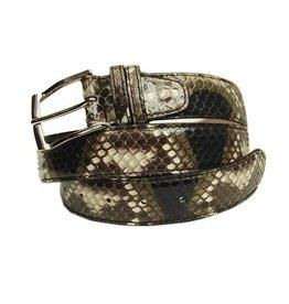 Ruskea / musta python vyö⎪Bochicchio Cinture