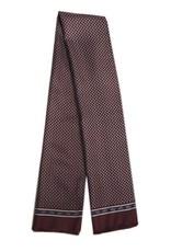 Tummanpunainen pitkä silkkihuivi villavuorilla⎪Bojua