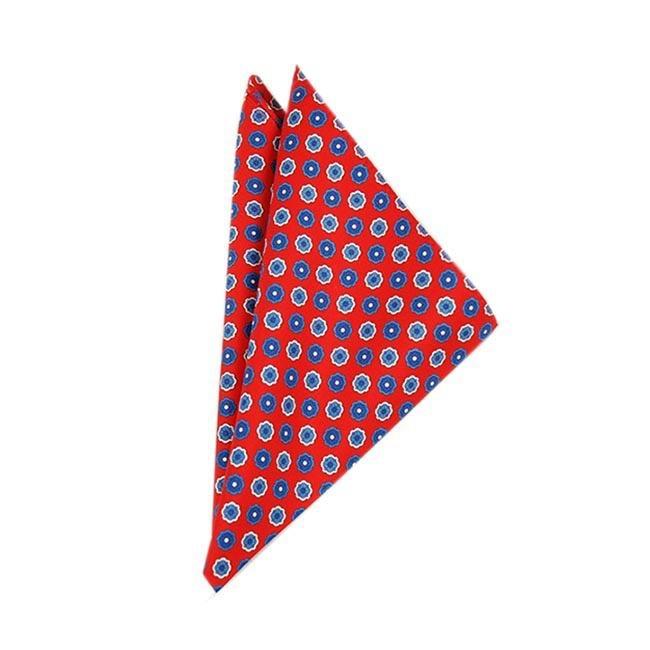Punainen taskuliina siniset kuviot⎪Bojua