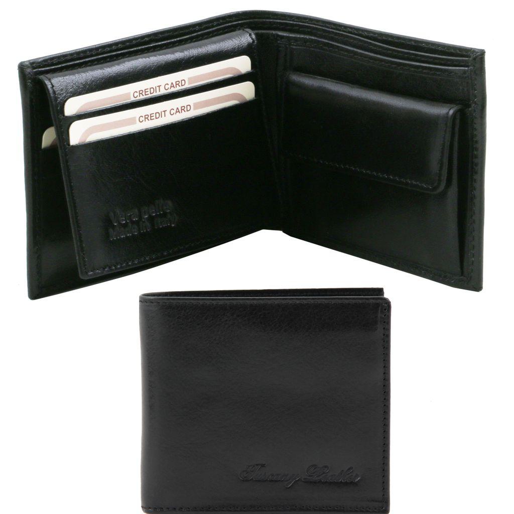 Aarni hirvennahkainen tummanruskea lompakko kolikkotaskulla RFID