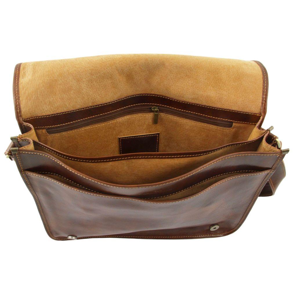 Tuscany Leather Messenger Double nahkalaukku