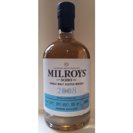 Milroys Ardmore 9 Year Old Single Malt Whisky 59.3% 2008