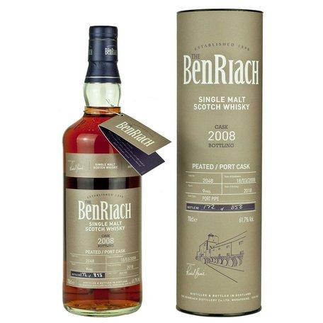 BenRiach Single Cask Batch 15, Peated Port, 2008, 9yo, 61.7% #2048