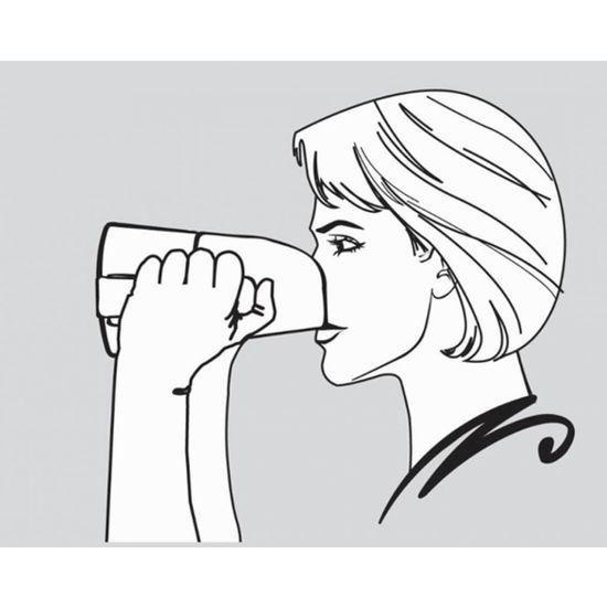 Rije Cup beker met neusuitsparing