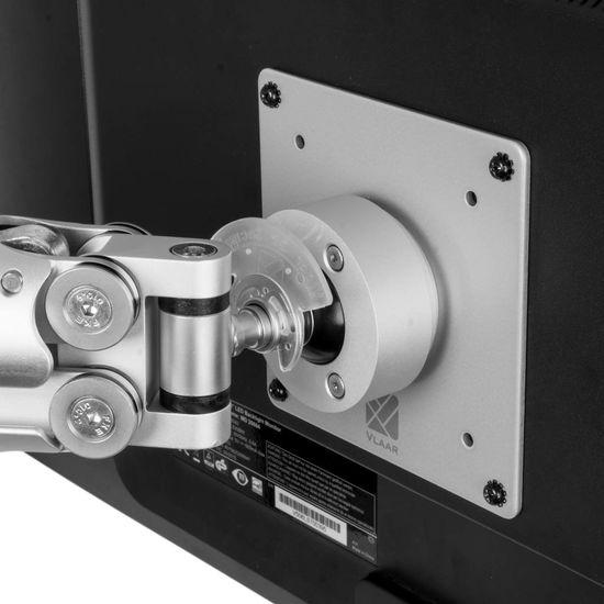 R-Go Tools Caparo 3 Pro Twin Monitorarm, gasveer, 0-18 kg, zilver
