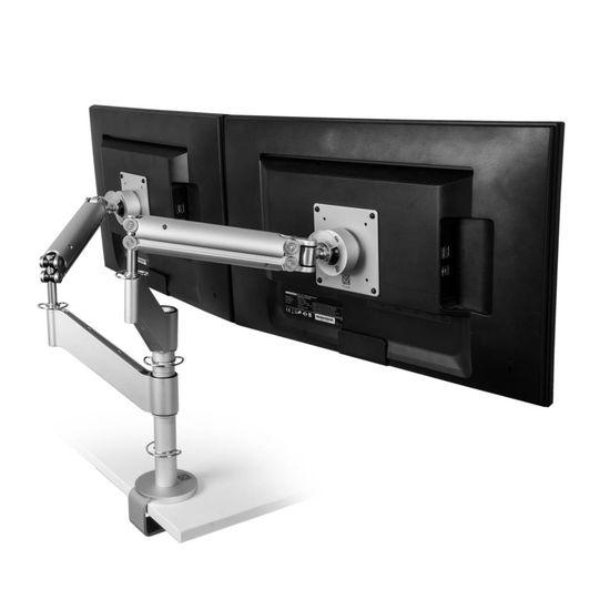 R-Go Tools Caparo 3 Twin Monitorarm, mechanische Veer, 2-9 kg