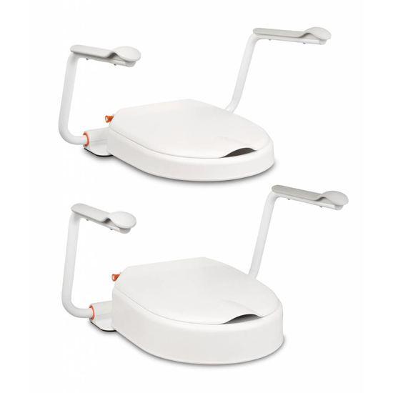 Etac Hi Loo toiletverhoger vast met deksel