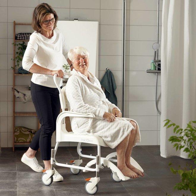 Etac Clean douche toiletstoel in hoogte verstelbaar