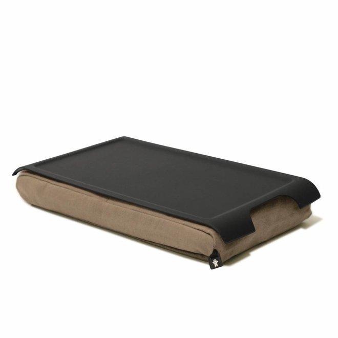 Mini laptray antislip zand/zwart