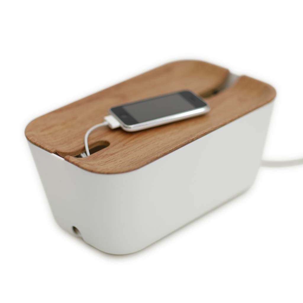 Cable organiser hideaway M white/natural