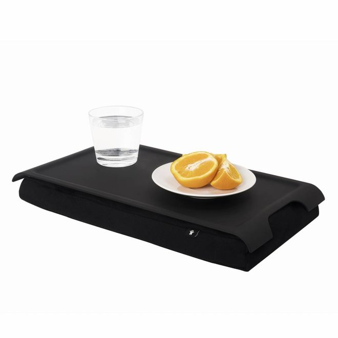 Mini laptray/ schoottafel antislip zwart/zwart