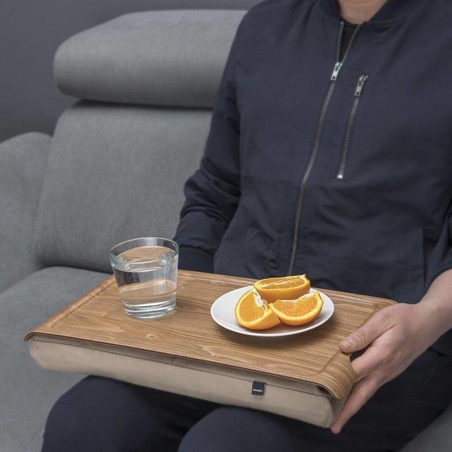 Mini laptray/ schoottafel zand/bruin