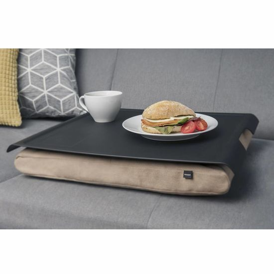 Bosign Laptray/schoottafel antislip zand/zwart