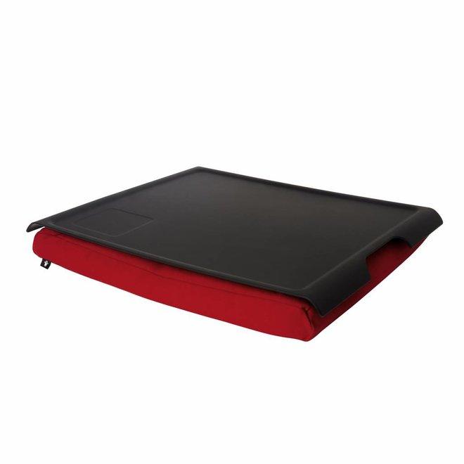Laptray/ schoottafel antislip rood/zwart