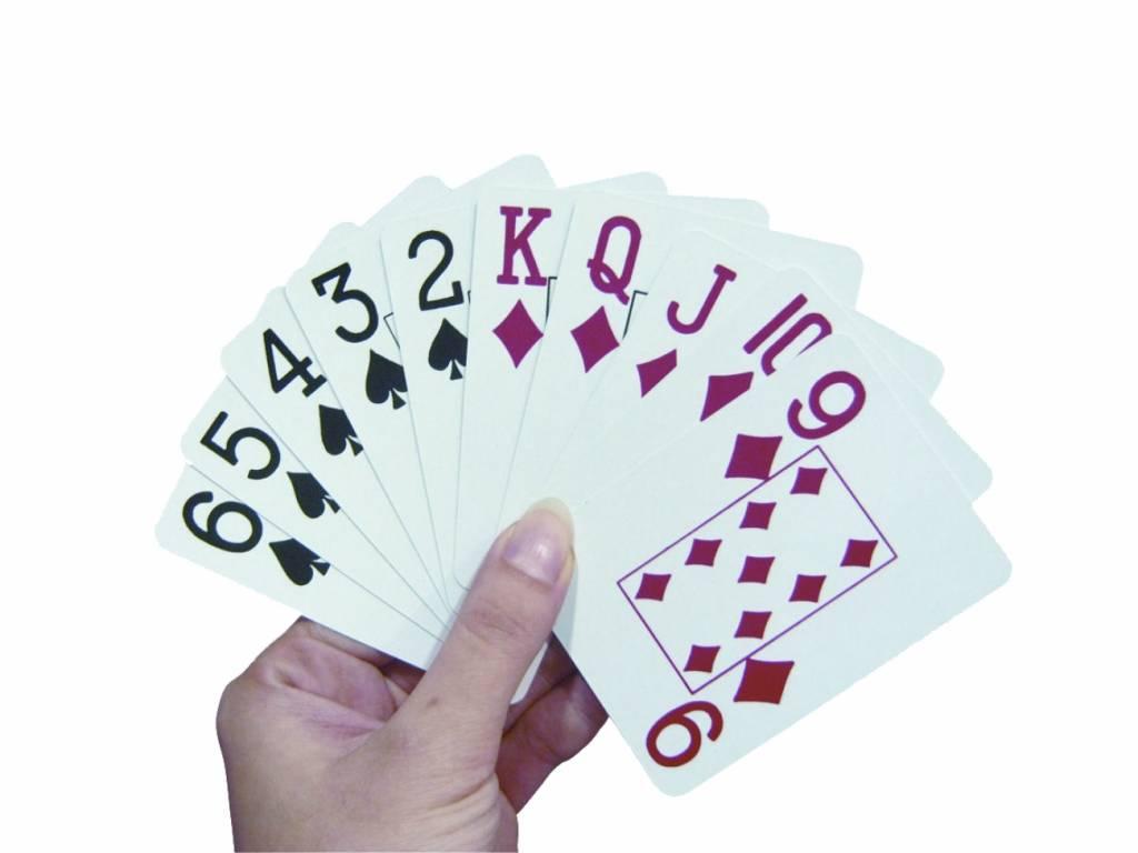 Speelkaarten groot logo