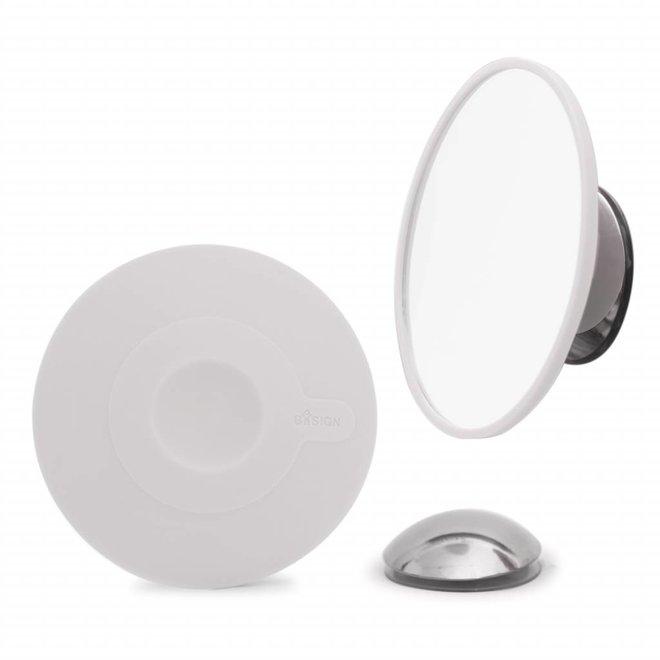 Afneembare magnetische spiegel vergroot 15x wit