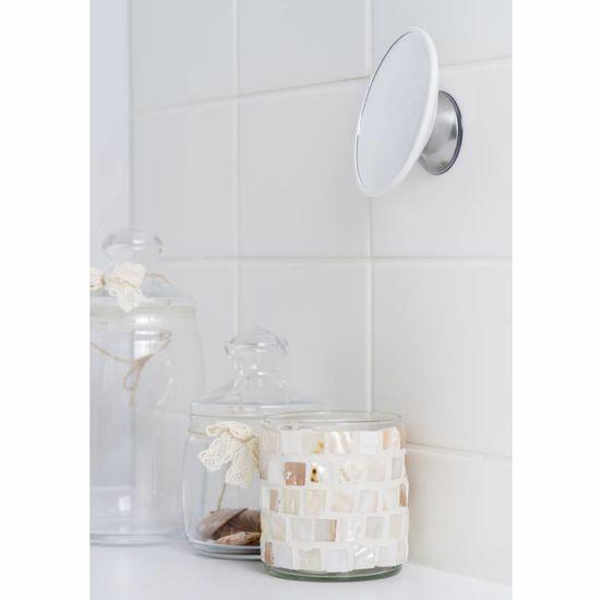 Bosign Afneembare magnetische spiegel vergroot 15x wit