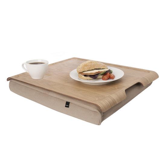 Bosign Laptray/schoottafel zand/houtbruin