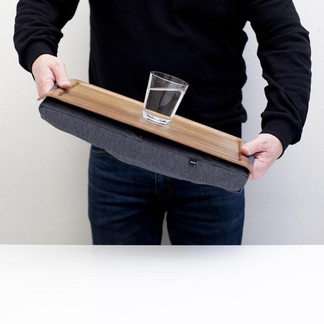 Mini laptray/ schoottafel walnoothout