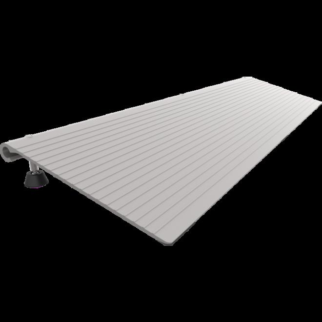 Pondus aluminium verstelbare drempelhulp 3-7 cm hii==oog