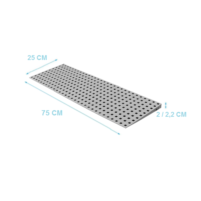 Modulaire drempelhulp 1 laags 1,8- 3,6 cm