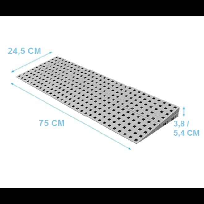 Modulaire drempelhulp 2 laags 3,8- 5,4 cm