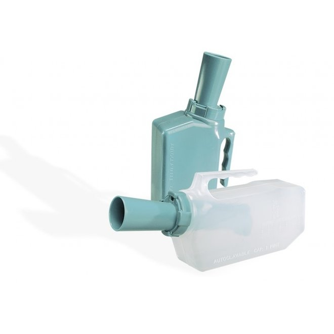 Urinaal met terugloop beveiliging - man
