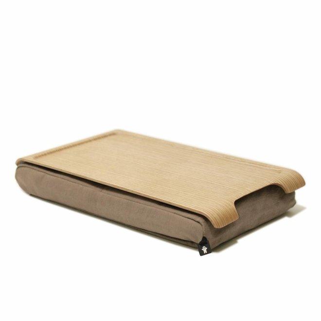 Mini laptray zand/bruin