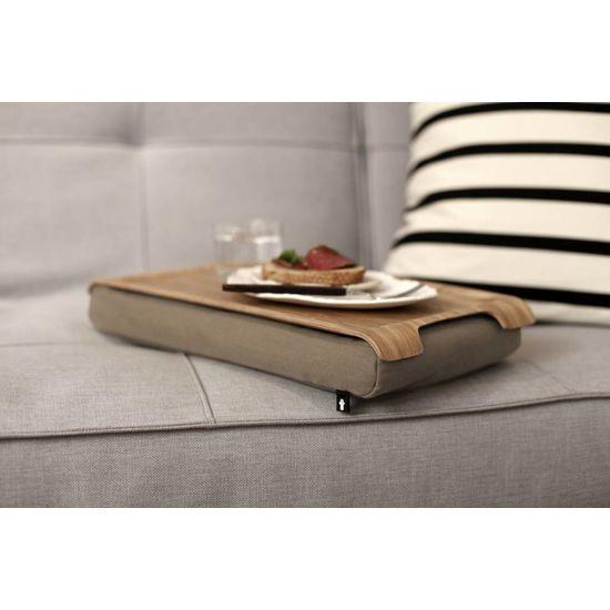 Bosign Mini laptray/ schoottafel zand/bruin