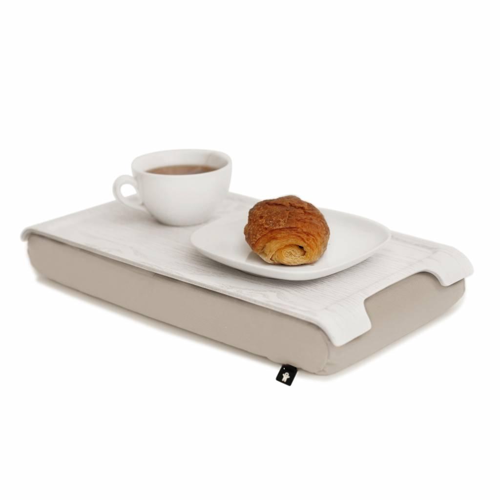 Mini laptray wit/wit