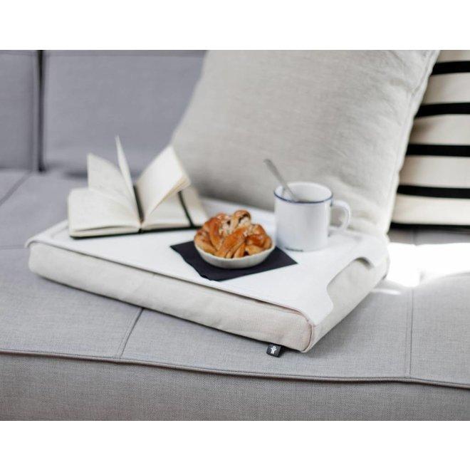 Mini laptray/ schoottafel wit/wit