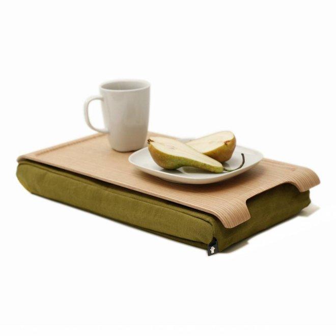 Mini laptray olijfgroen/bruin