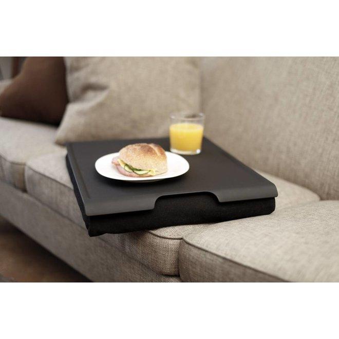 Laptray/schoottafel antislip zwart/zwart