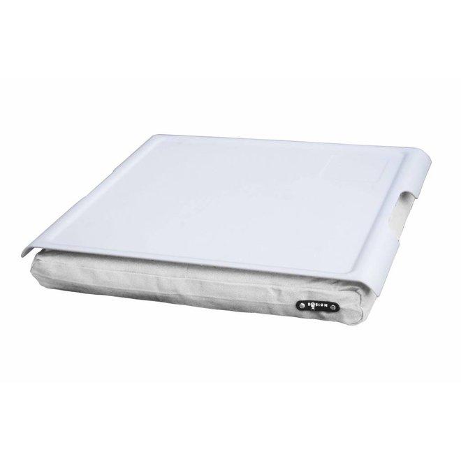 Laptray antislip wit/wit