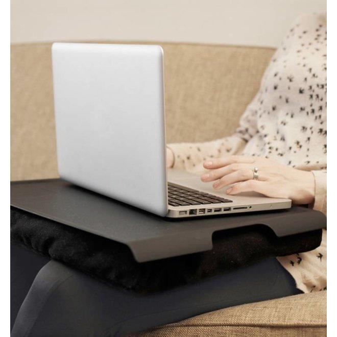 Laptray/schoottafel  zwart/zwart antislip